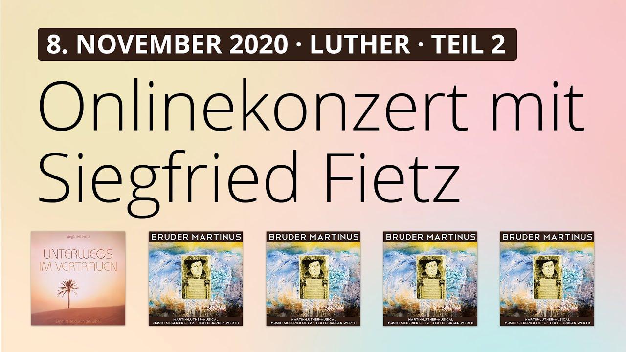 Online-Konzert am 8.11.2020