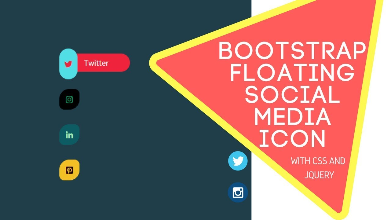 Bootstrap Floating Social Icon with CSS Animation