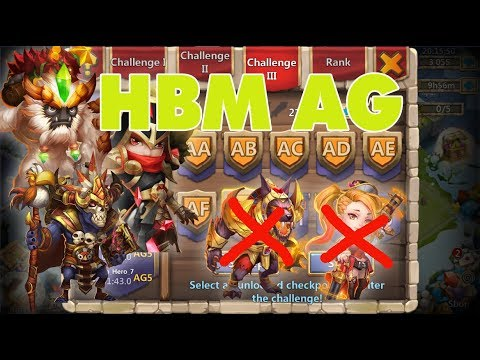 HBM AG Without Anubis And Gunslinger ➥ Victory | Castle Clash