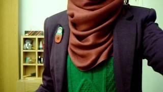 Hijab OOTD Emerald & Purple