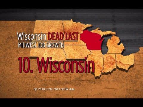 Under Scott Walker, Wisconsin is dead last in job creation in the Midwest