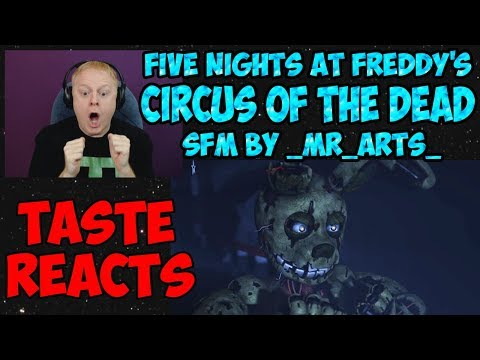 TASTE REACTS #7{FNAF SFM} CIRCUS OF THE DEAD -TRYHARDNINJA | AFTON'S DEAD FAMILY BY _MR_ARTS_ PART 1