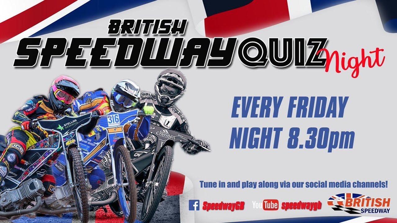 British Speedway Quiz Night 13 - 10/07/20