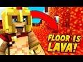 THE FLOOR IS LAVA CHALLENGE SUR MINECRAFT ! 🔥 MURDER MYSTERY !