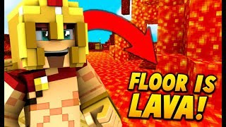 THE FLOOR IS LAVA CHALLENGE SUR MINECRAFT ! 🔥 MURDER MYSTERY !