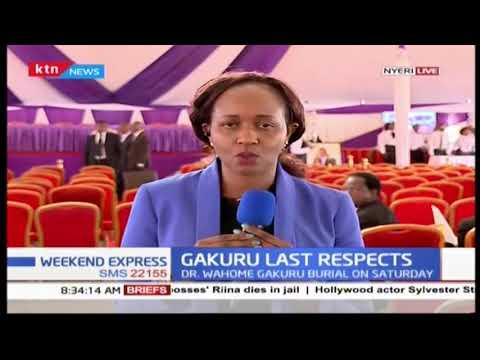 The late Governor Wahome Gakuru's burial funeral service at Kagumo High School, Kirichu-Nyeri County
