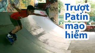 Bé Luân trượt Patin ở Sài Gòn Skate Park sau 3 năm treo giày.