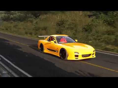 Mazda RX7 FD3S vs Nissan GTR R33 @ Mt Akina