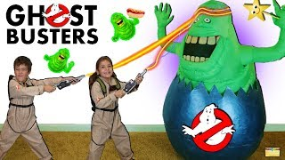 Ghostbusters GIANT HATCHING SURPRISE EGG w/ Slimer, Kids, Ghosts and Surprise Toys