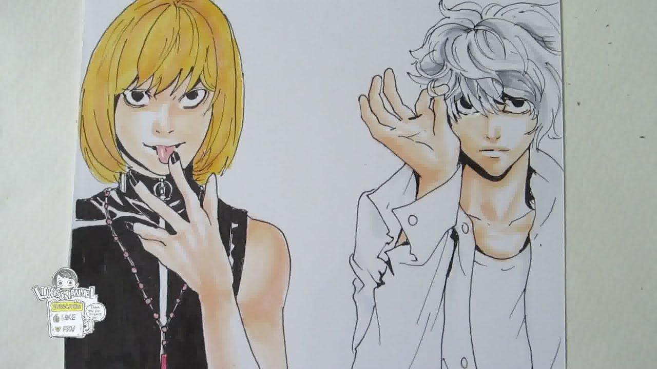 how to draw mello and near from death note メロ ニア youtube