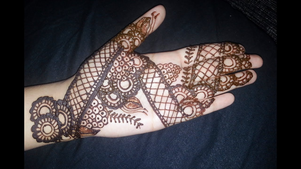 Henna Stencils: Easy Full Hand Indian Mehendi Design