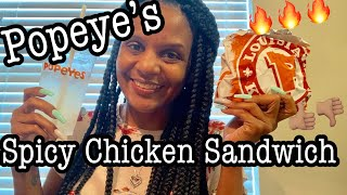 Popeye's Chicken Sandwich | What's the hype about? MUKBANG