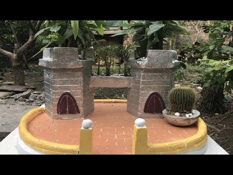 DIY - Cement craft ideas for garden//Castle and flower pot