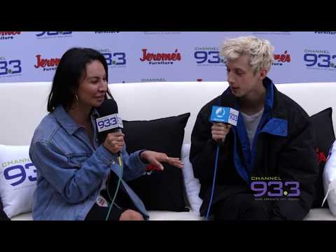 Troye Sivan backstage interview with Letty B at Channel 933's Summer Kick Off Concert