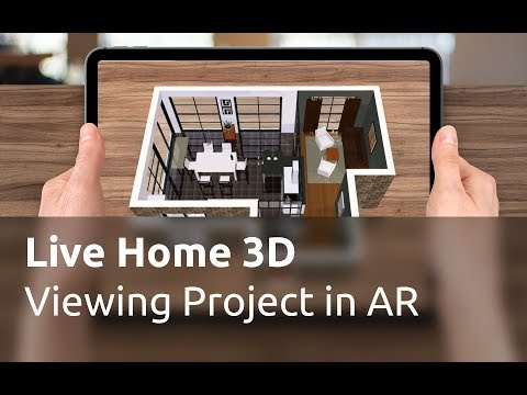 Live Home 3D for iOS / iPadOS Tutorials - Viewing the Home Model in AR
