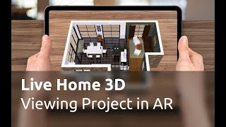 Live Home 3d For Ios / Ipados Tutorials   Viewing The Home Model In Ar
