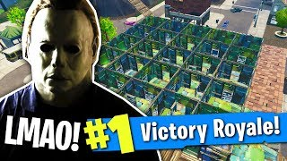 PLAYGROUND MODE MICHAEL MYERS! ft. Obey House (Fortnite Mini Game)