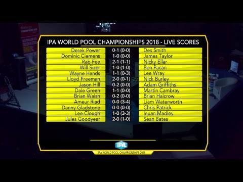 IPA World Pool Championships 2018 - Day 1