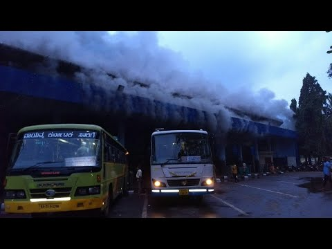 Panjim Bus Stand caught fire early morning on 2nd Oct 2017