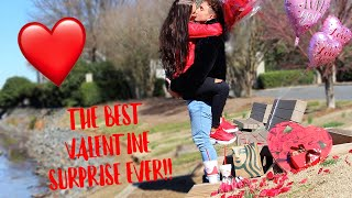 Surprising My Girlfriend On Valentine's Day *EMOTIONAL*