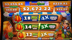 ★NEW GAME ! FARM VILLE (Mighty Cash Unlimited) Slot ☆$275 Free Play Slot Live★San Manuel Casino☆彡栗スロ