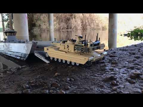 LCM8 Landing Abrams Tank - RC Lego Sbrick