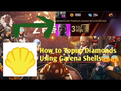 How To TopUp Diamond Using Garena Shells Guide In Free Fire    Tutorial Step By Step