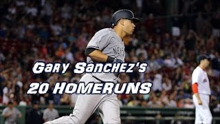 Gary Sanchez's 20 Home Runs In Order | 1080p HD