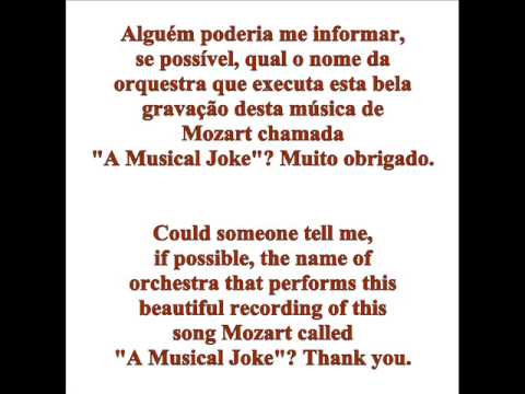 A Musical Joke Of Mozart