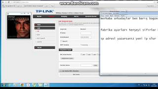 TP-LİNK 864W internet ayarı yapma