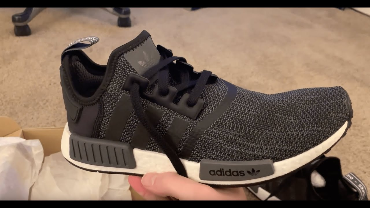 8d9e5479 Adidas NMD R1 Black Carbon From StockX - YouTube