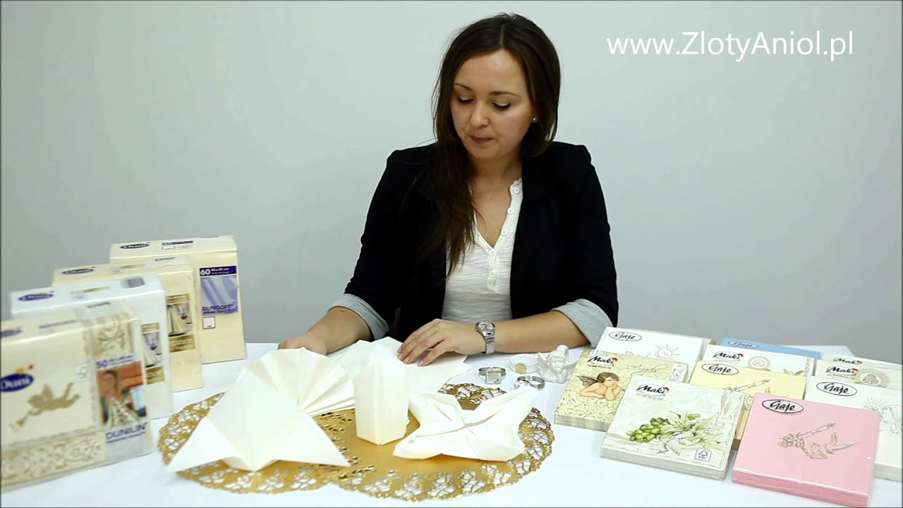 23604ffaba Dekoracje stołu komunijnego  serwetki komunijne - ZlotyAniol.pl dekoracje  komunijne