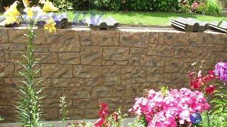 Steinimitation aus Beton im Garten selber machen .
