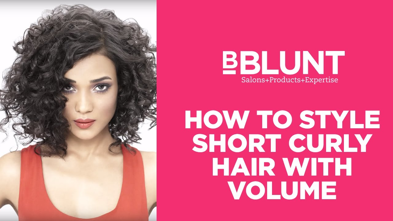 how to style a short curly hair cut with extra volume | bblunt do it