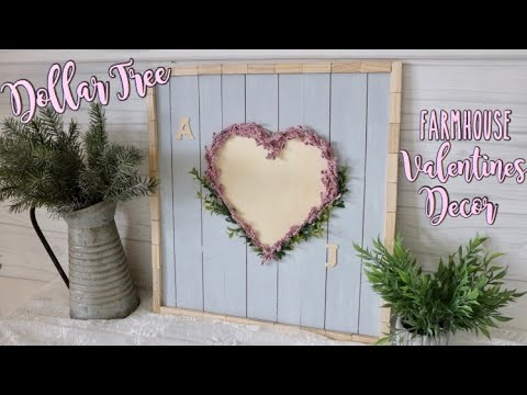 Dollar Tree DIY Farmhouse Wood Sign | Valentines decor