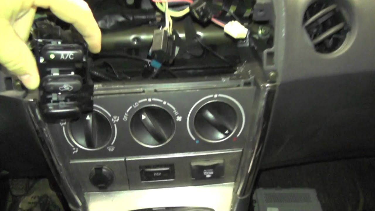 2004 Pontiac Vibe Stereo Wiring Diagram Emg Solder Toyota Matrix Hvac Controls Youtube