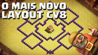 O MAIS NOVO LAYOUT DE GUERRA CV8 ANTI DRAGÃO+ANTI VALQUÍRIA+ANTI GOWIPE - CLASH OF CLANS