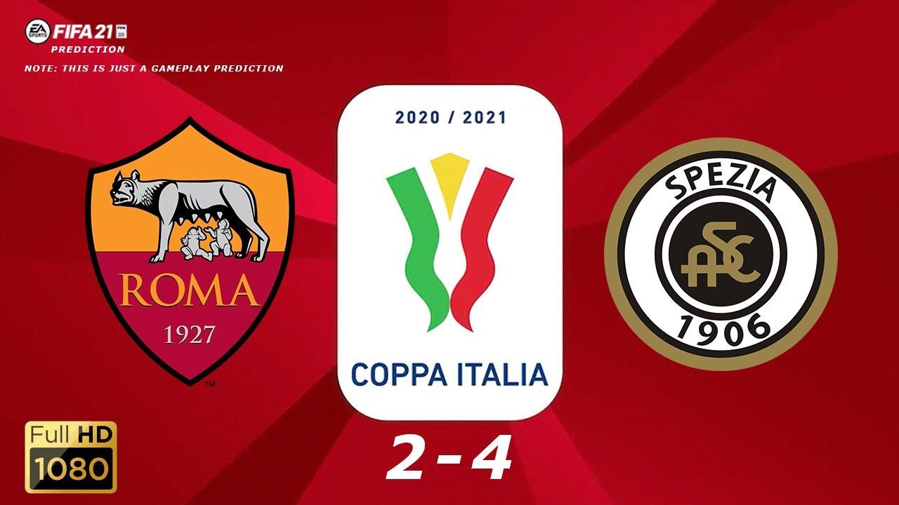 Download Roma vs Spezia - Coppa Italia 2020/21 - 19/01/2021   Fifa 21  