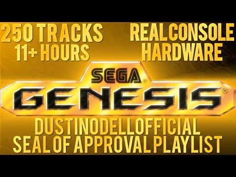 11+ HOURS OF SEGA GENESIS MUSIC - 250 TRACKS - DUSTINODELLOFFICIAL 250th VIDEO 5K SUBS SPECIAL!