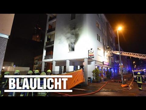 Feuer in der Frankfurter Altstadt - Wohnung in Flammen - Neun Verletzte
