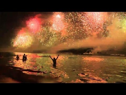 Two million bring in New Year on Rio's Copacabana beach