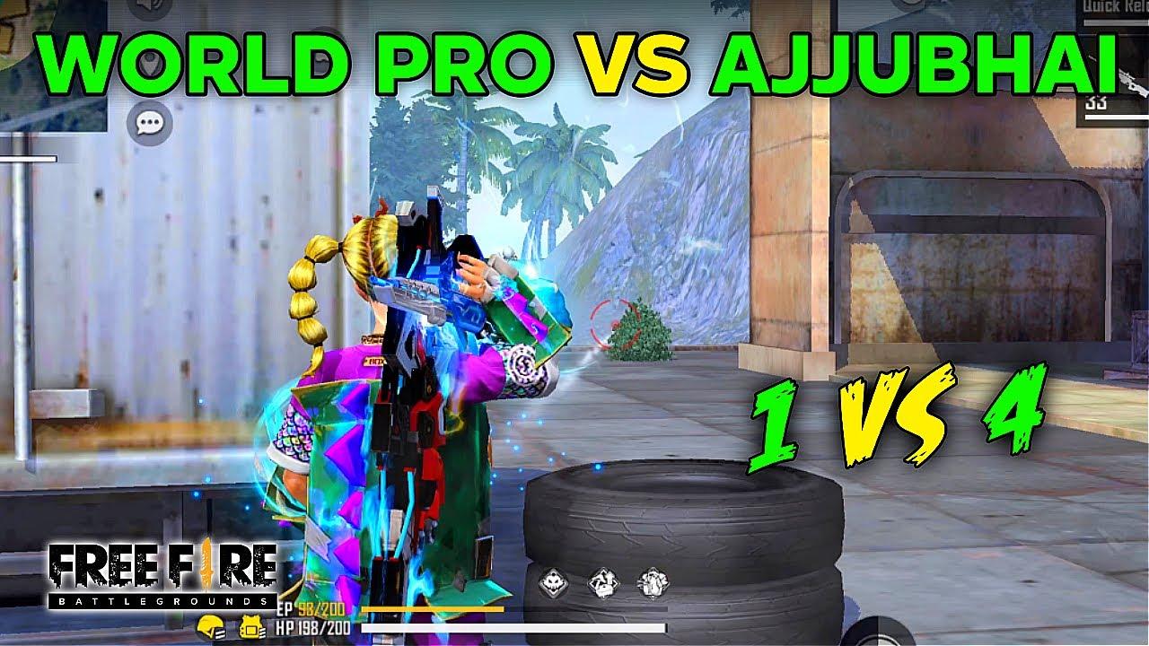 WORLD PRO CHAT SQUAD VS AJJUBHAI BEST 1 VS 4 CLASH SQUAD GAMEPLAY #40 | GARENA FREE FIRE