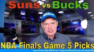 Free NBA Picks and Predictions | Milwaukee Bucks vs Phoenix Suns Game 5 Betting Preview | July 17