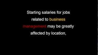 The Beginning Salary of any Business Management
