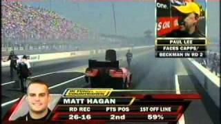 Matt Hagan Robert Hight Paul Lee Interview FC Rnd1 Eliminations O'Reilly Nationals Charolette NC  2010