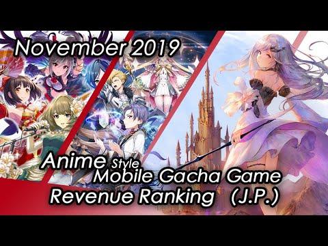 (J.P.) November 2019 Anime Style Gacha Mobile Game Revenue Tier List IOS & Android