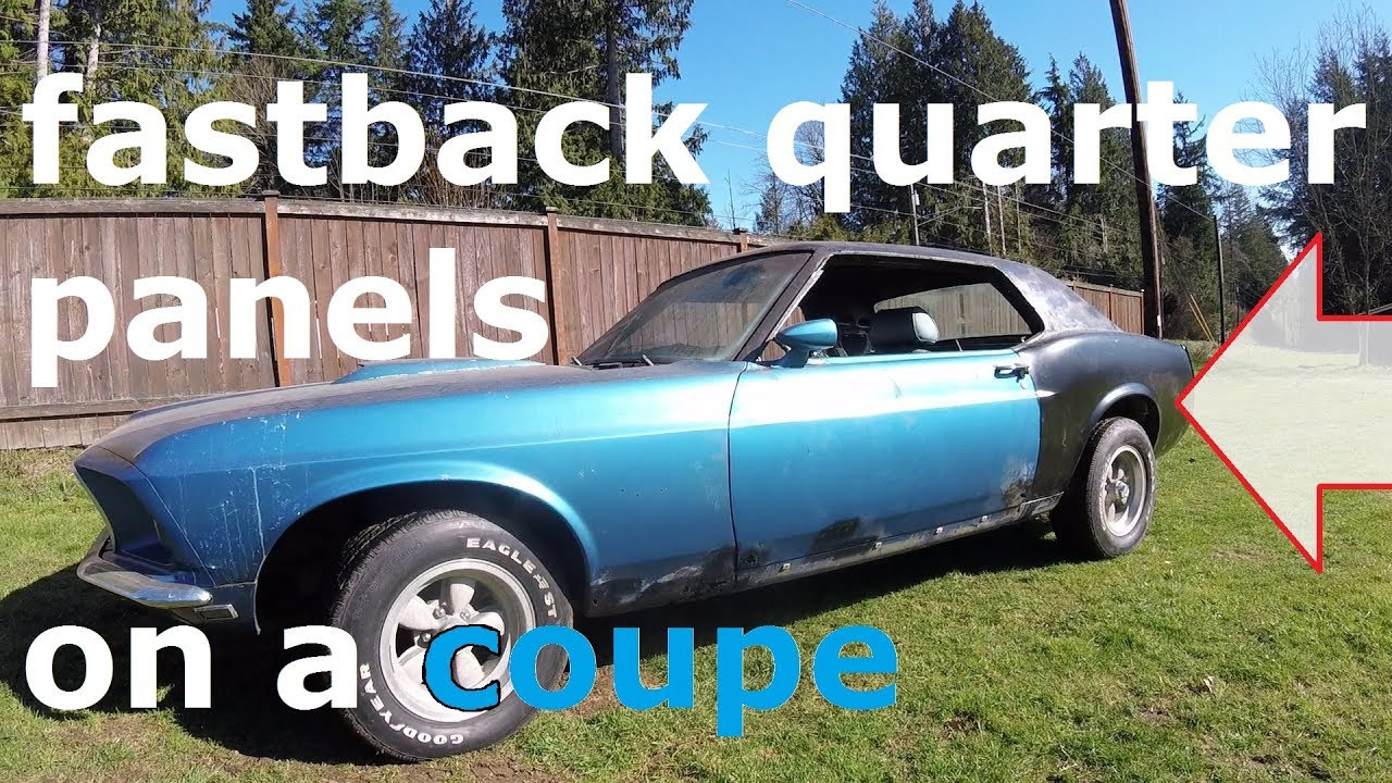 1969 mustang restoration part 8 welding the fastback quarter panels on