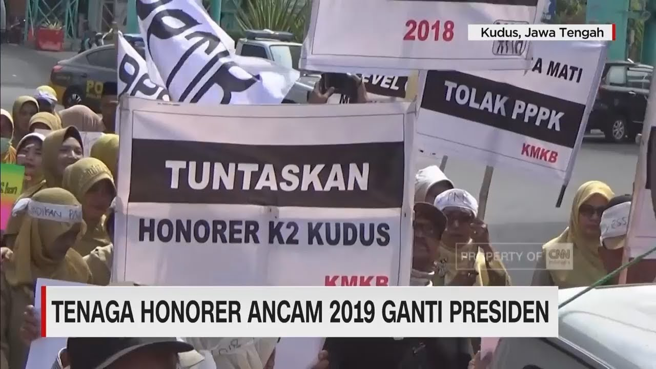 CNN Update: Tenaga Honorer Ancam 2019 Ganti Presiden