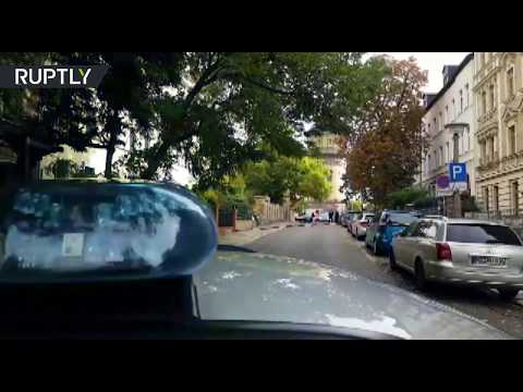 Scene from Halle after shooting outside German synagogue