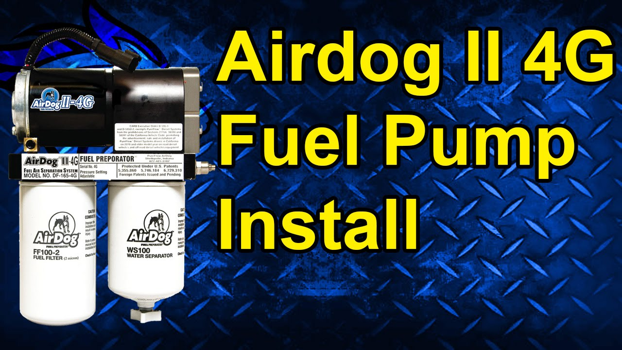 Airdog Ii 4g Fuel Pump Install 08 10 Ford Powerstroke 64l Youtube Filter